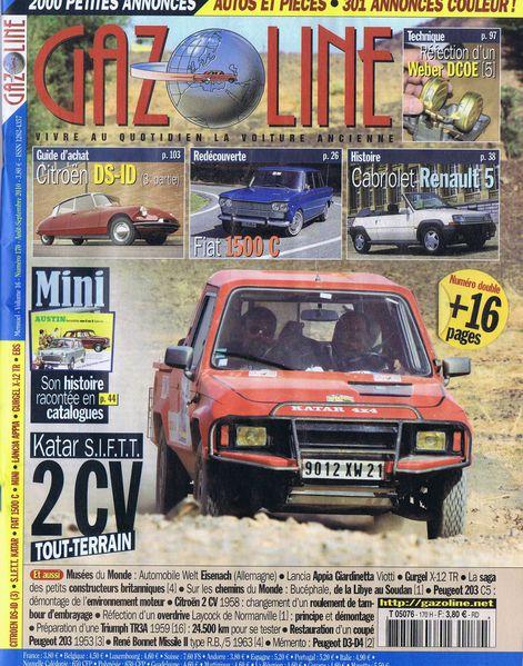 ID & DS 19 - Gazoline n°170 Août-Sept 2010 couverture