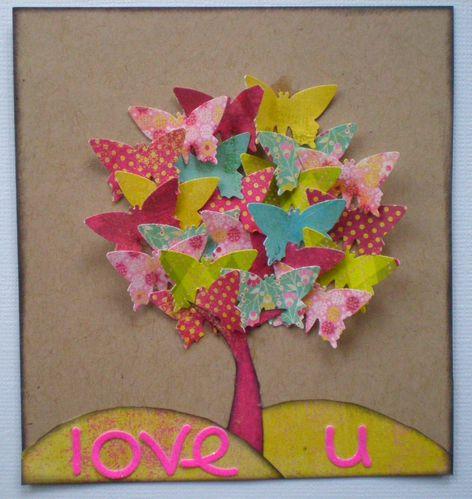 Carte arbre en papillons scrapemma - Comment faire crever un arbre sans le couper ...