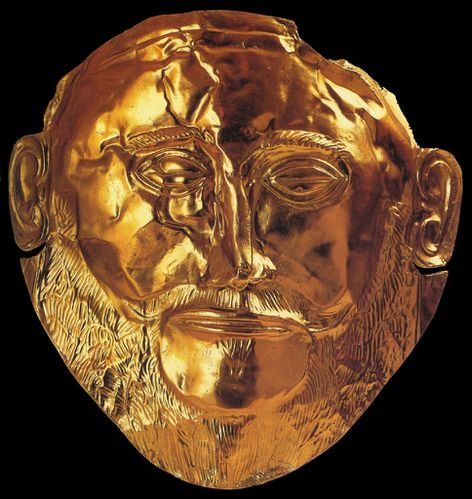 agamemnon masque en or