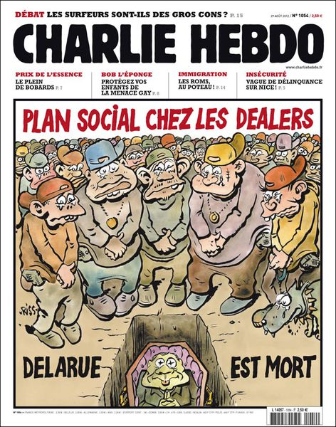 charlie hebdo jean luc delarue dealer