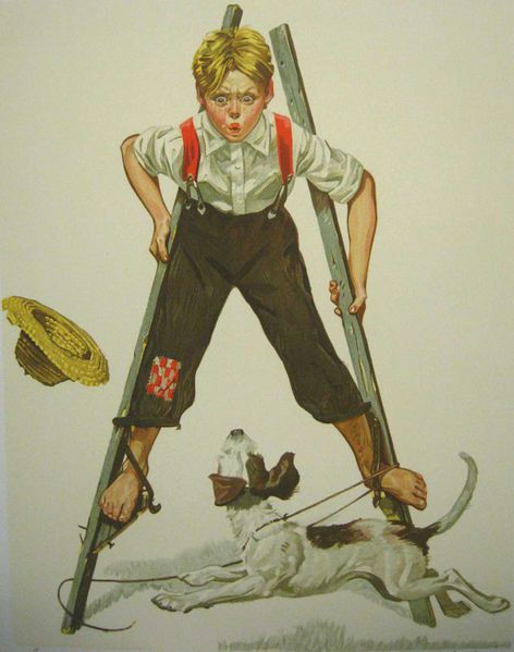 rockwell_boy_on_stilts-80X60.jpg