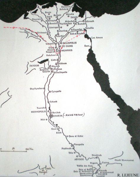 Sinouhé - Itinéraire