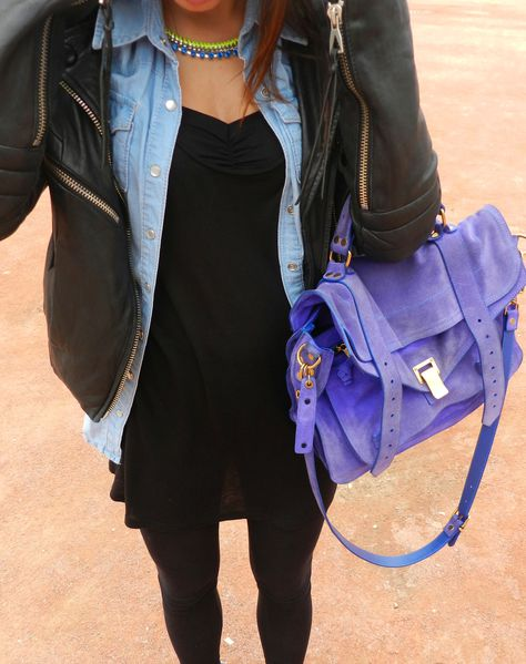 look elodie blog mode escarpins pointus bleu cobalt proenza schouler PS1 perfecto fashion swag blog