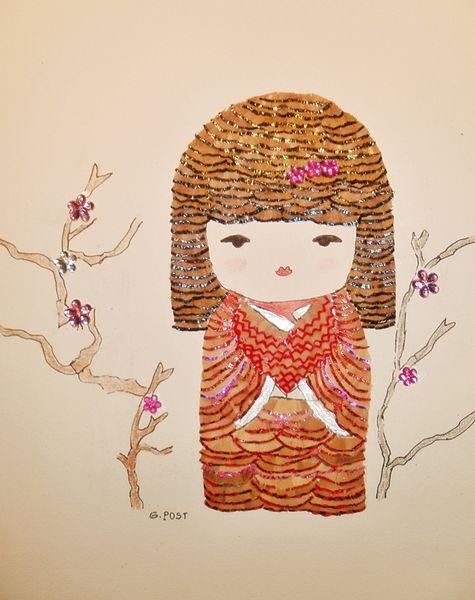 Tomiko - poupée Kokeshi
