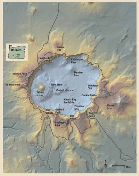 map crater lake