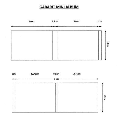 Gabarit mini album