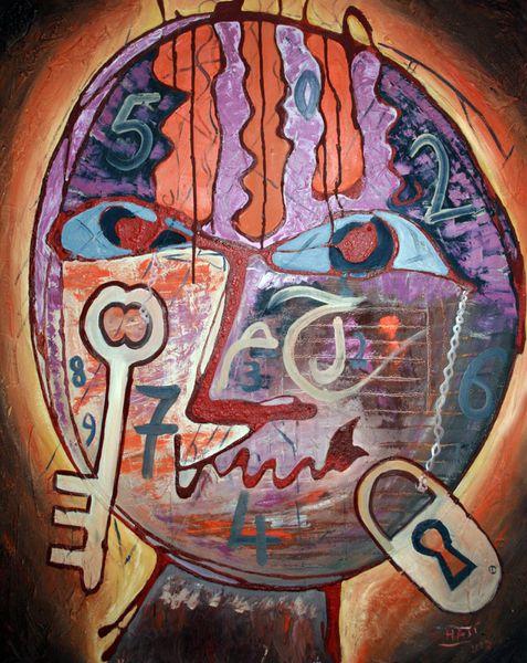 « Le doute est la clé de toute connaissance. » Proverbe persan peinture Said Haji