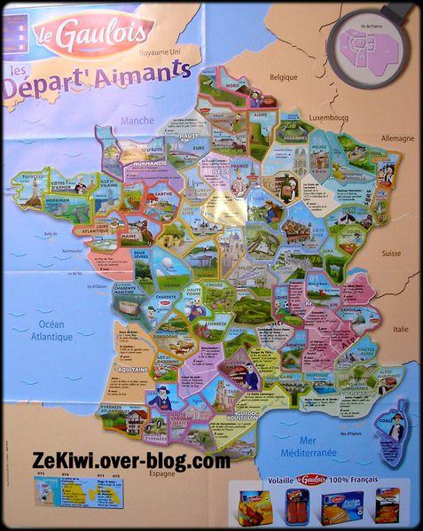 Carte de France: Carte de france le gaulois