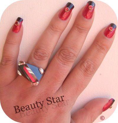 nail art rouge