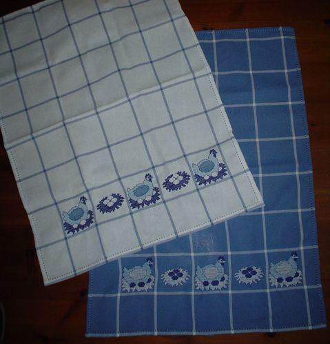 Strofinacci blu bianco (2)