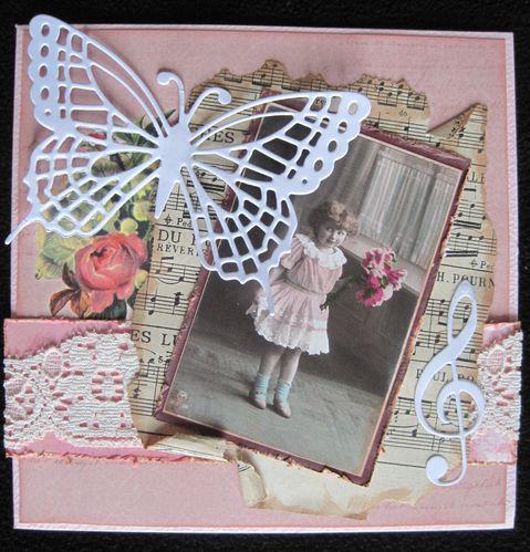 carte vintage papillon 1