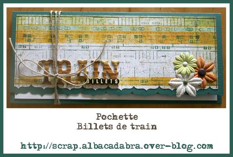 Kit novembre Pochette billets train