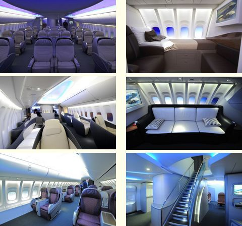 Le nouveau boeing 747 8 intercontinental visite for Plan de cabine boeing 747 400 corsair