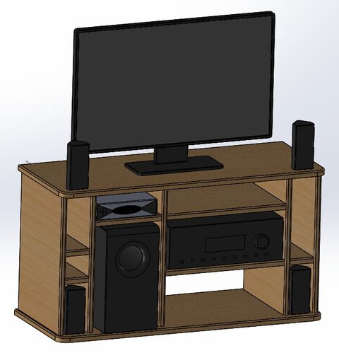 Fabrication d 39 un meuble tv akou91 technical adventures - Fabrication d un meuble tv ...