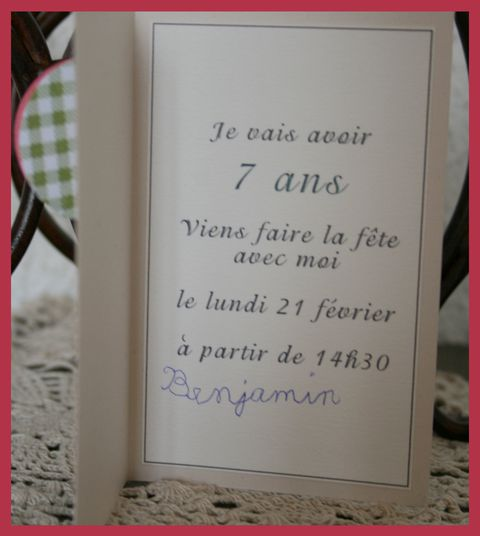 Invitations 7ans4