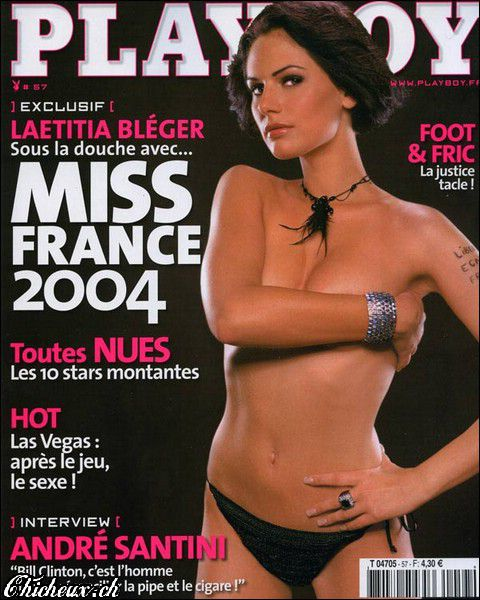 Laetitia Bleger couverture Playboy