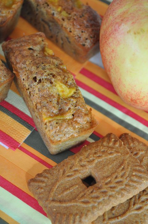 cakes pomme speculoos