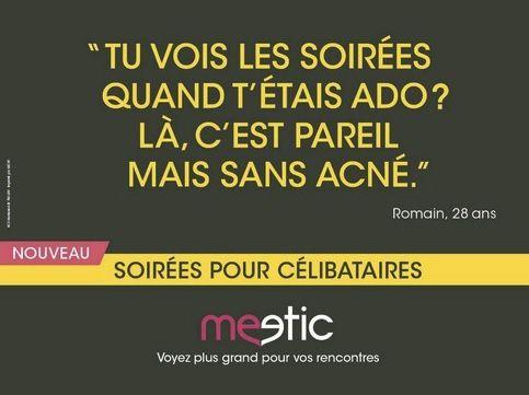 affiche meetic mobile acné