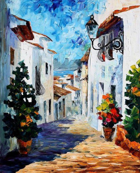greek mood leonid afremov by leonidafremov-d4h6mzn