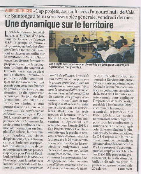 article agriculteur