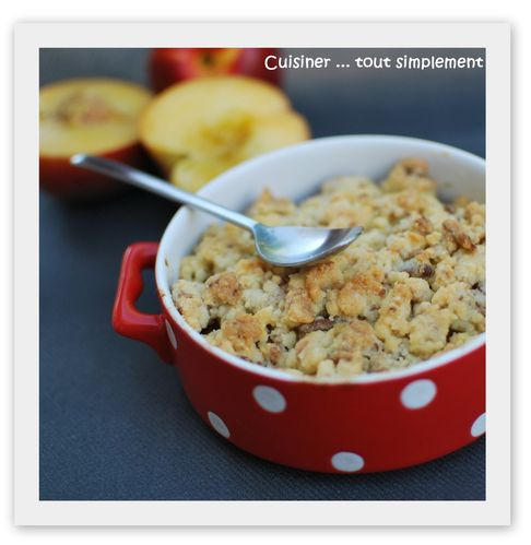 crumble pêches - Nectarines2
