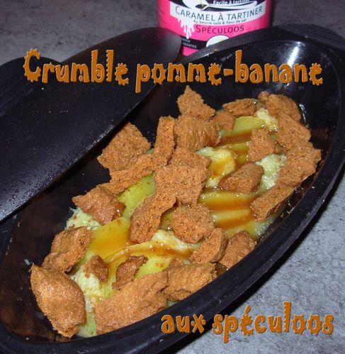 Crumble pomme-banane-spéculoos2
