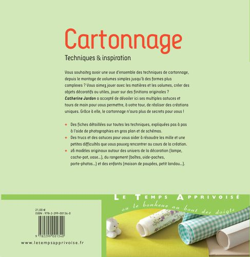 Couverture cartonnage verso