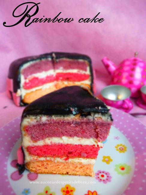 rainbow cake gateau