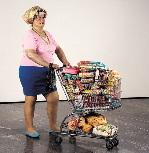 Duane-Hanson--Supermarket-Shopper--1970.