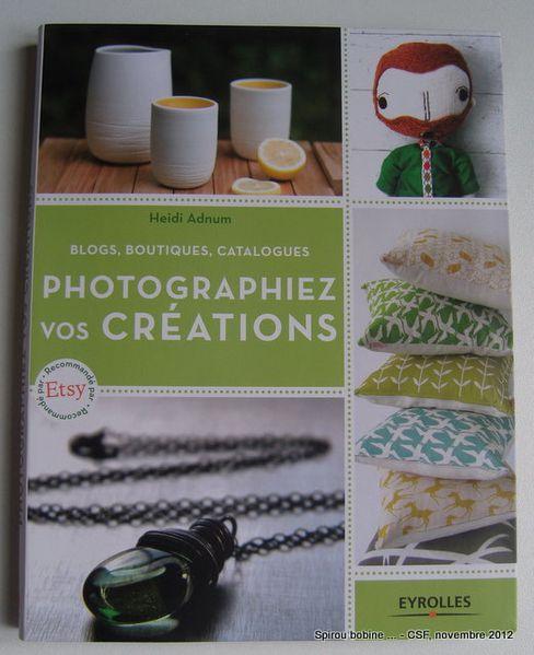 CSF 2012 Livre Photographiez vos créations