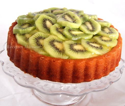 tarte au kiwi tarte renvers e recettes by hanane. Black Bedroom Furniture Sets. Home Design Ideas