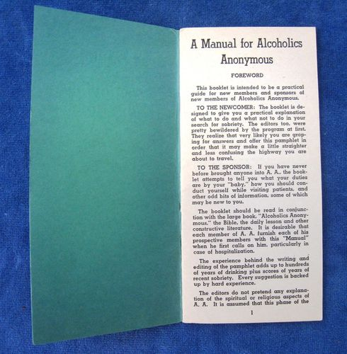 HISTOIRE 174b manual for alcoholics anonymous