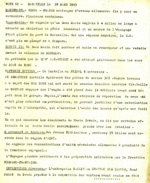 65 Informations militaires