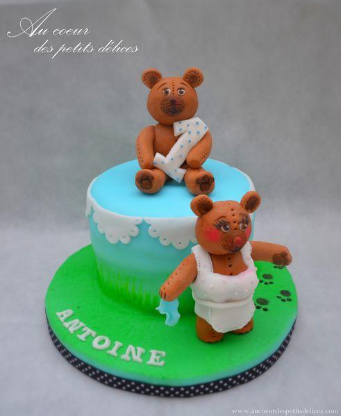 Gâteau oursons 1 an
