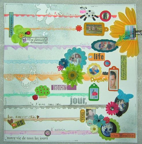 FUNNY concours coloruyourword rayures maison