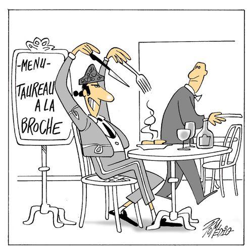 TAUREAU A LA BROCHE