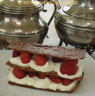 millefeuille aux framboises