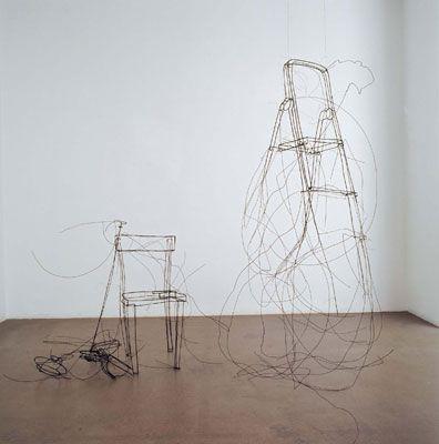 Drahtskulptur für Raymond Carver, 2005©Woessner