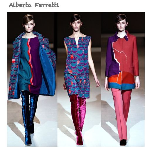 fashion ballyhoo - Alberta Ferretti fall2011 fashion week