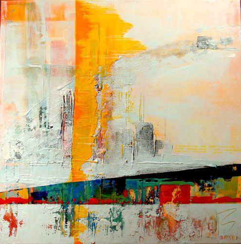 Uleski edifice 2 ursula uleski artiste peintre for Peinture contemporaine abstraite