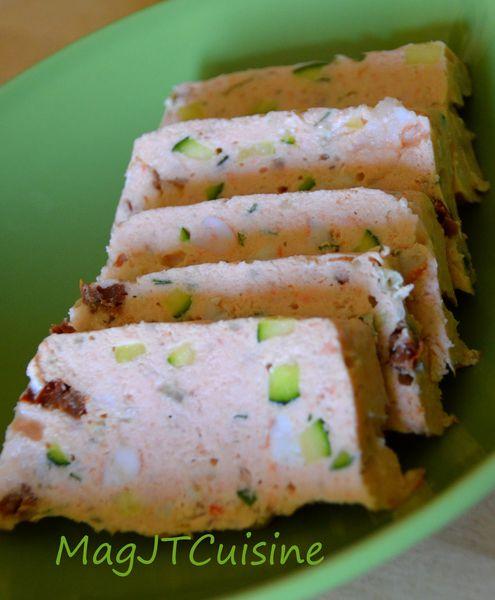 Gateau saumon courgette