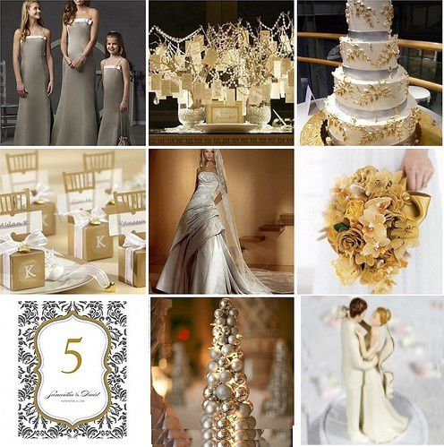 Mariage blanc et or - Mariage idées