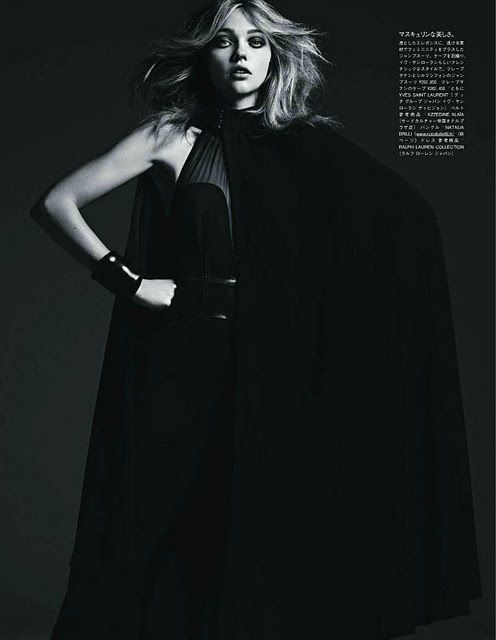Sasha Pivovarova Vogue Japan aout 2011 by Hedi Slimane 7