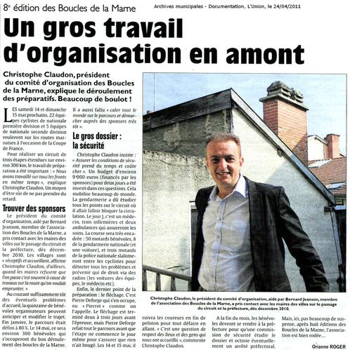 Boucles de la marne article Union 110424
