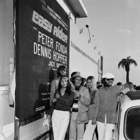 Dennis Hopper, Jack Nicholson and Peter Fonda in Easy Rider