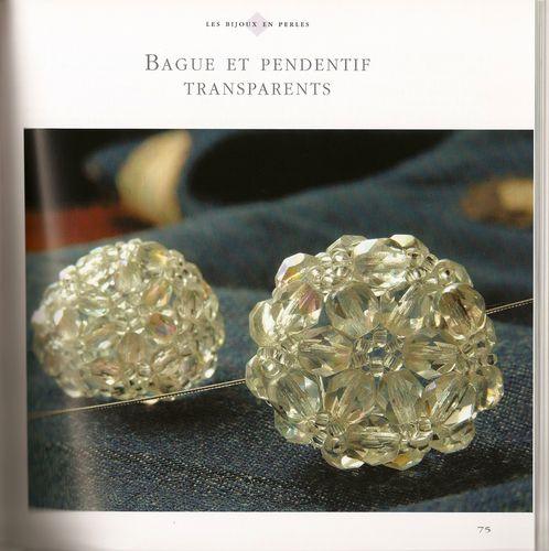 bague et pendentif transparents