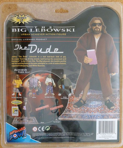 BIG LEBOWSKI EXCLUSIVE COMIC CON THE DUDE BACK