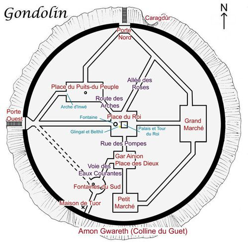 Carte de Gondolin
