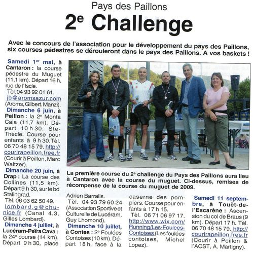 Challenge paillons