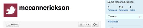 McCann Erickson on twitter